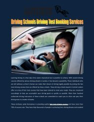 Driving School Driving Test Booking Services