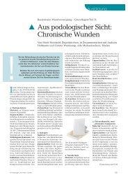 Bei der Behandlung chronischer Wunden hat die - Werner Sellmer