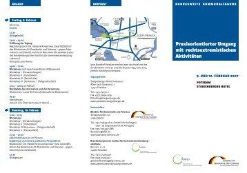 Tagungsflyer (PDF 312 KB) - Bündnis für Demokratie und Toleranz