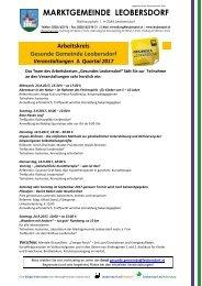 Postwurf August 1 / Marktgemeinde Leobersdorf