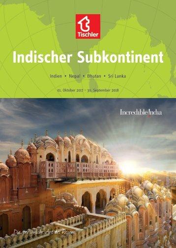 Tischler Reisen Indischer Subkontinent - 2017-18
