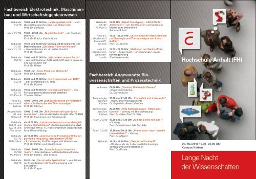 Programm - Hochschule Anhalt