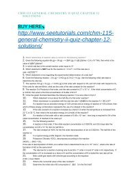 CHM 115 GENERAL CHEMISTRY II PRACTICE EXAM 2 SOLUTIONS