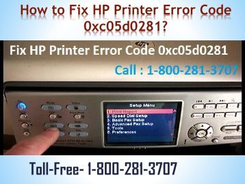 How to Fix HP Printer Error Code 0xc05d0281|Dial 8002813707