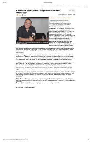 Omar Raymundo Gomez Flores No Se Acostumbra a Vivir Fuera del Presupuesto y Busca Gobernar Zapopan Jalisco, Eso Si, No Le Pregunten por La Cedula Profesional porque Aplica la Ley Avestruz el Priísta Dueño de La Rioja de Consorcio G