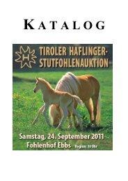 einteilung der stutfohlen 2011 - Haflinger Tirol