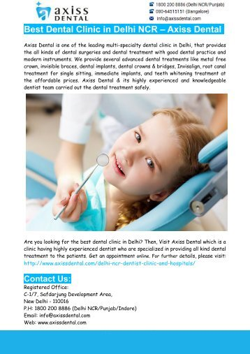 Best Dentist in Delhi- Best Dentist in Delhi – Axiss Dental