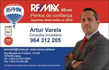 Cartão visita Artur Varela