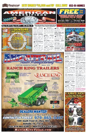 American Classifieds Aug. 10th Edition Bryan/College Station