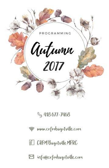 Programming - Autumn 2017