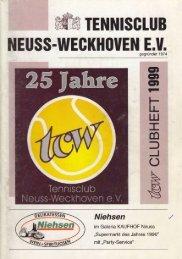 Clubheft des TCW - Ausgabe für 1999