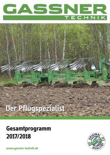GASSNER Gesamtprogramm 2017 / 2018