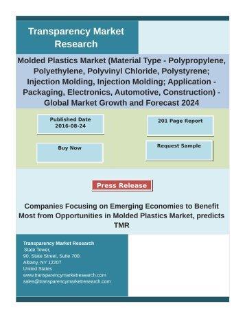 Molded Plastics Market Report 2016 Analysis by Trends, Production, Consumption 2024