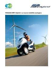 PIAGGIO MP3 Hybrid: La nuova mobilità ecologica