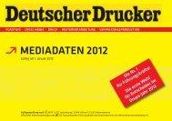 Deutscher Drucker Mediadaten 2012 - Ebner Verlag GmbH & Co KG