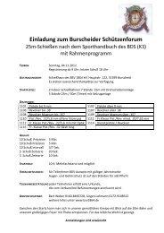 Verbindliche Anmeldung zum Schützenforum am 4.11.2012