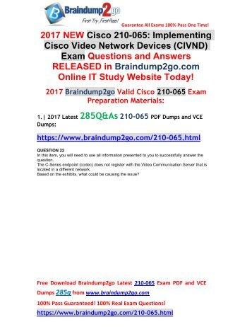[2017-Aug-New]210-065 Dumps VCE 285Q&As Free Share(Q22-Q34)