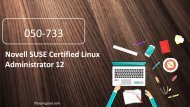 Examgood 050-733 Novell SUSE Certified Linux Administrator 12 exam questions
