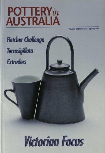 Pottery In Australia Vol 34 No 3 Spring 1995