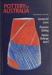 Pottery In Australia Vol 35 No 3 Spring 1996