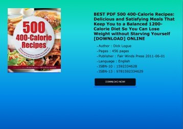 BEST_PDF_500_400Calorie Recipes_Delicious_and_Satisfying_Meals_That_Keep You_to_a_Balanced