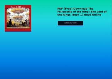PDF [Free] Download  The Fellowship of the Ring (The Lord of the Rings, Book 1) Read Online