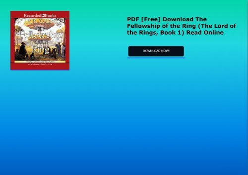 the fellowship of the ring download free
