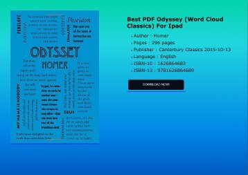 Best PDF  Odyssey (Word Cloud Classics) For Ipad