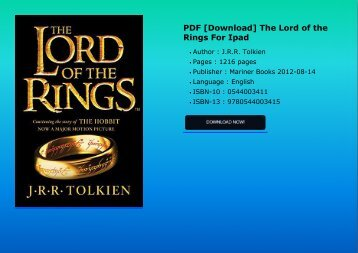 Download pdf the lord of the rings 2019 calendar for i-pad.