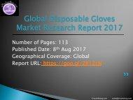 World Disposable Gloves Market – Professional Survey Report 2017