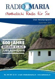 Radio Maria Schweiz - September 2017