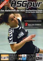 HSG Hallenheft 2009/2010 - HSG Kochertürn/Stein