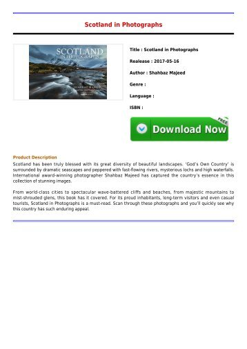 Download E-Book Scotland in Photographs Full Collection
