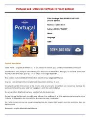 Read Free E-Book Portugal 6ed GUIDE DE VOYAGE French Edition Free Best Sellers