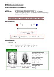 I. Statische elektrische Felder