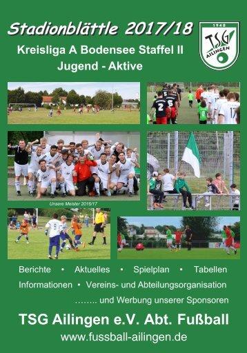 TSG Ailingen - Abt. Fußball - Stadionblättle 2017/18