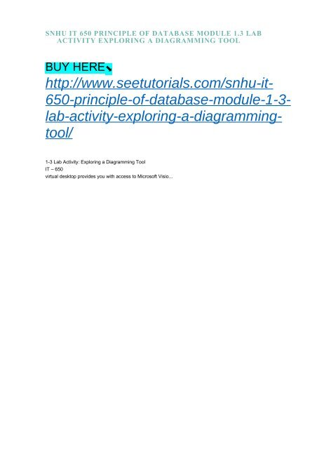 SNHU IT 650 PRINCIPLE OF DATABASE MODULE 1 3 LAB ACTIVITY