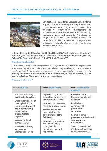 CHL Overview - September 2017