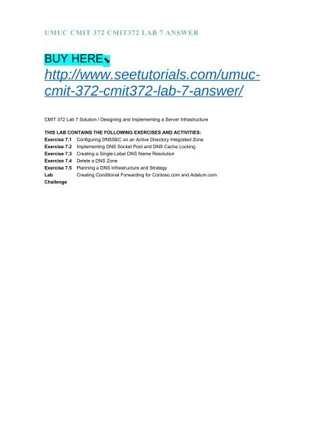 UMUC CMIT 372 CMIT372 LAB 7 ANSWER
