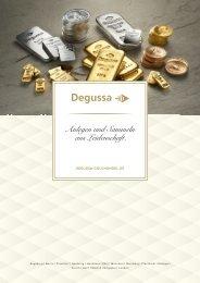 Degussa Katalog Barren und Münzen