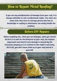 Ways to Repair Metal Roof   Alpha Rain