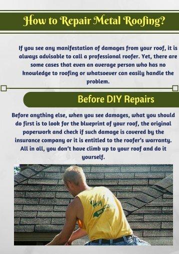 Ways to Repair Metal Roof | Alpha Rain