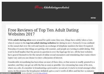 Top ten adult websites