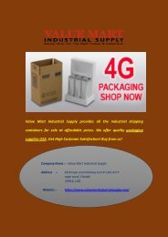 Buy Quality Packaging Supplies in USA at Best Price