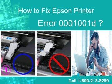 How to Fix Epson Printer Error 0001001d