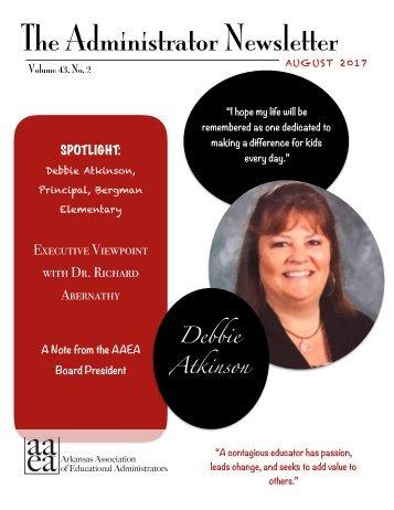 August 2017 Administrator Newsletter