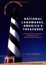 National Landmarks, America s Treasures: The National Park Foundation s Complete Guide to National Historic Landmarks (Preservation Press Series) (S. Allen Chambers Jr.)