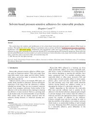 Solvent-based pressure-sensitive adhesives for removable products