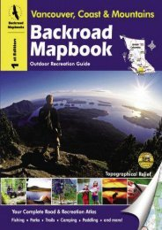 Backroad Mapbook: Vancouver, Coast   Mountains - Outdoor Recreation Guide, 1st Edition