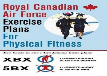 Royal Canadian Air Force Exercise Plans For Physical Fitness Two Books In One Famous Basic